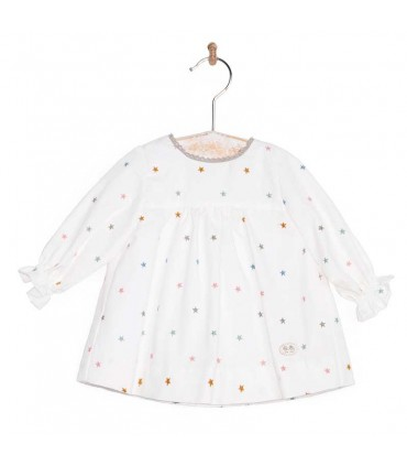 JOSE VARON BABY GIRL STARS DRESS