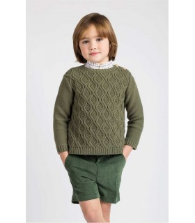 KIDS CHOCOLATE BOYS GREEN SWEATER