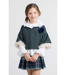 KIDS CHOCOLATE GIRLS WHITE BLOUSE OXFORD