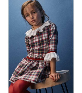 TARTALETA GIRLS CHECKED DRESS LONDON