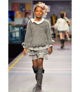 TARTALETA GIRLS GREY SWEATER