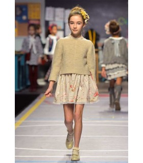 TARTALETA GIRLS BEIGE SWEATER