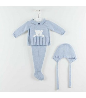 MARTIN ARANDA BABY BOY BLUE SET BEARS