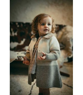 MARTIN ARANDA BABY GIRLS DARK RED COAT