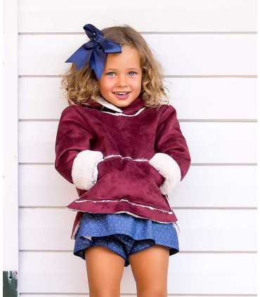 KIDS CHOCOLATE UNISEX BURGUNDY COAT