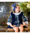 KIDS CHOCOLATE BABY GIRLS DRESS TARTAN