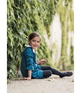 ANCAR GIRLS KNITTED GREEN DRESS