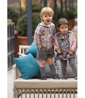 ANCAR BABY GIRLS GREY CARDIGAN STARS