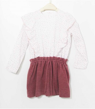 ANCAR GIRLS KNITTED PINK DRESS