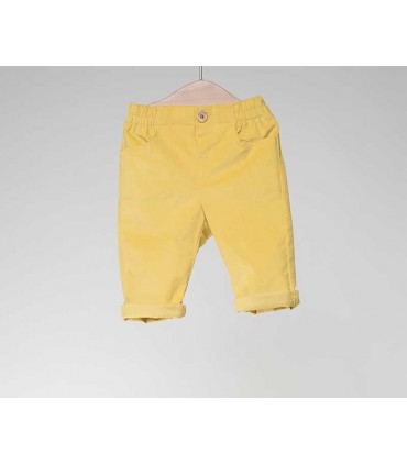 FINA EJERIQUE BABY BOYS YELLOW TROUSERS