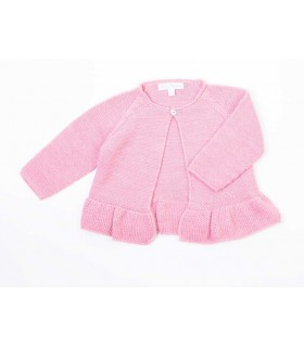 FINA EJERIQUE BABY GIRLS PINK CARDIGAN