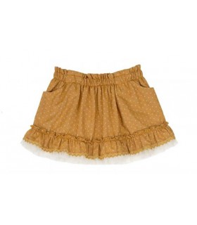 TARTALETA GIRLS OCHRE SKIRT