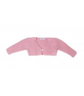Chaqueta de punto en rosa bebe niña de Ancar