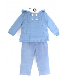 BABY BOY BLUE SET GNOME