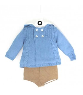 BABY BOY BLUE COAT SET