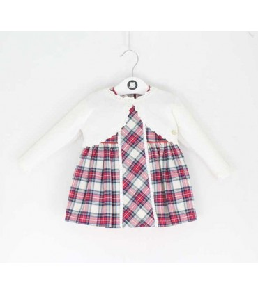 MAYORAL BABY GIRL DRESS WITH CARDIGAN