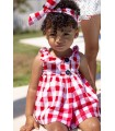 MON PETIT BONBON BABY GIRLS RED CHECKED DRESS