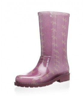 IGOR Rain Pink Boots Dogs Print
