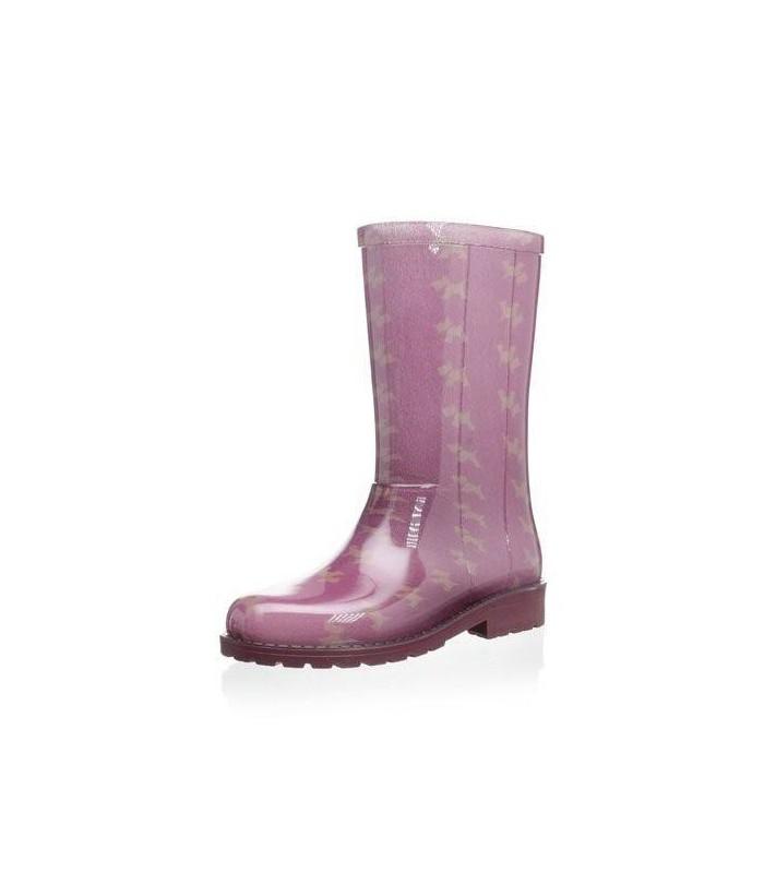 Botas de agua con estampado de perros en rosa