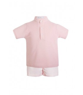 EVE CHILDREN BOYS PINK POLO SET