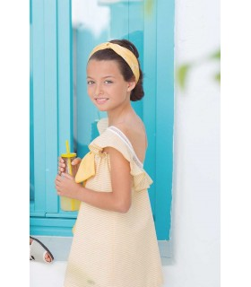 EVE CHILDREN YELLOW STRIPES GIRLS DRESS