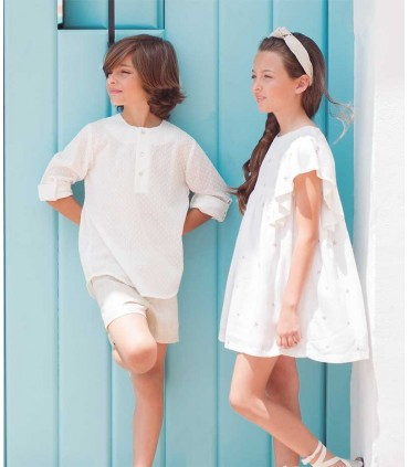 ROBE BLANC PETITE FILLE EVE CHILDREN