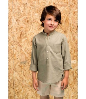 PILAR BATANERO BOYS CAMEL AND GREEN SET