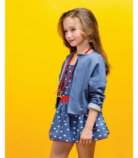 PILAR BATANERO GIRLS DENIM JACKET