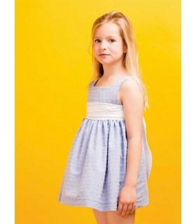 PILAR BATANERO GIRLS BLUE DRESS