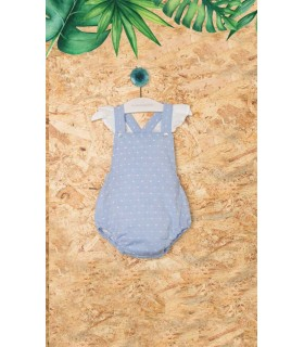 PILAR BATANERO LIGHT BLUE BABY GIRLS ROMPER