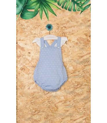 PILAR BATANERO LIGHT BLUE BABY GIRLS ROMPER