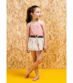 PILAR BATANERO GIRLS CAMEL SKIRT