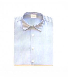 Camisa niña rayas azules y blancas Ancar