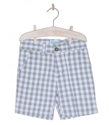 COCOTE BOYS CHECKED BERMUDAS