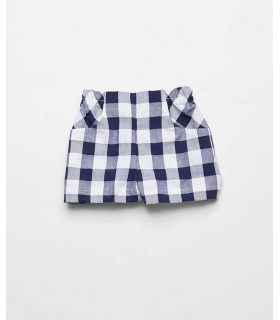 FINA EJERIQUE BOYS BLUE CHECKED BERMUDAS