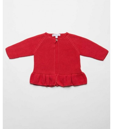 FINA EJERIQUE BABY GIRLS RED CARDIGAN