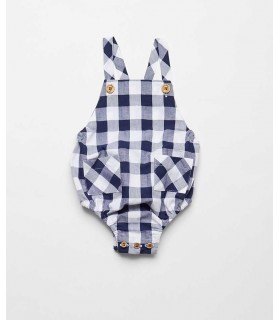 FINA EJERIQUE BABY BOYS BLUE CHECKED OVERALLS