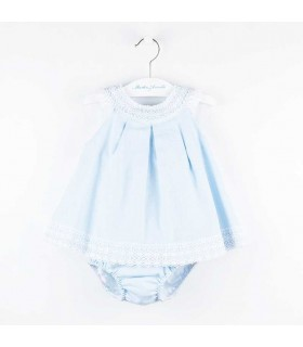 MARTIN ARANDA BABY GIRLS BLUE DRESS