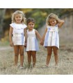 ANCAR GIRLS BEIGE SET DRESS