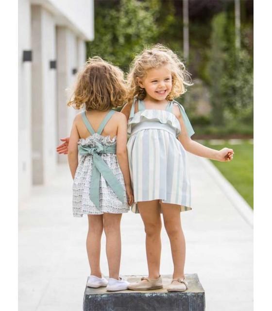 1d51251ed ANCAR GIRLS GREEN STRIPES DRESS ANCAR GIRLS GREEN STRIPES DRESS