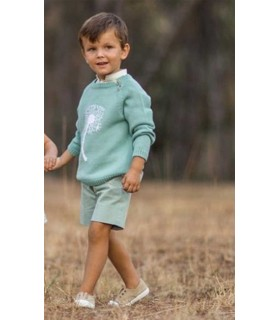ANCAR BOYS GREEN BERMUDAS