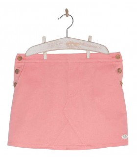 JOSE VARON GIRLS CORAL SKIRT