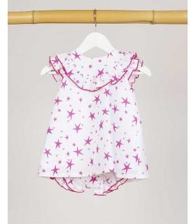KIDS CHOCOLATE BABY GIRLS PINK STARS DRESS