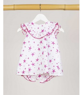 ROBE BEBE FILLE ETOILES KIDS CHOCOLATE