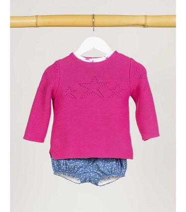 KIDS CHOCOLATE BABY BOYS PINK SWEATER