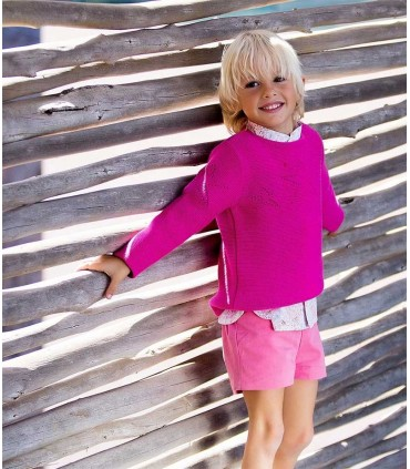 JERSEY STARS FUCSIA KIDS CHOCOLATE