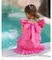 KIDS CHOCOLATE GIRLS PLUMETI PINK DRESS