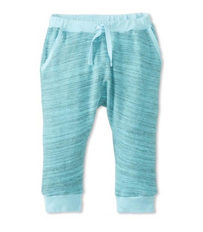 Pantalón deportivo verde jade de algodón 100% de Peas & Queues