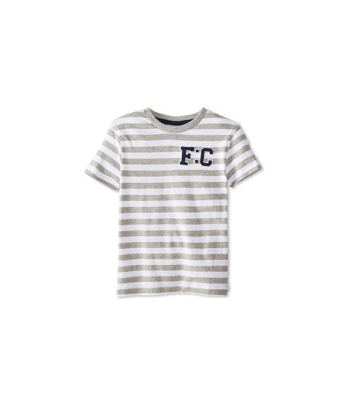 Camiseta a rayas grises y blancas French Connection
