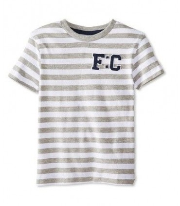 Grey and white striped T-shirt French Connection